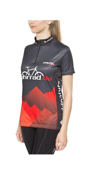 fahrrad.de Basic Team Jersey Damen schwarz/rot